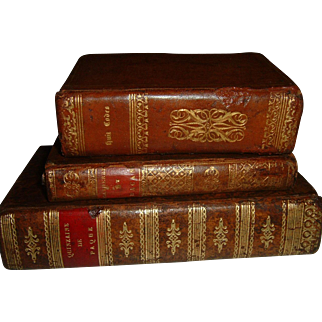 Vintage French Full Leather Books 3 Volumes  1811-1833