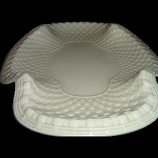 Antique English Spode White Ironstone Bread Tray
