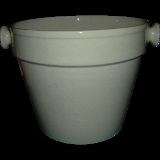 Antique English White Ironstone Bucket Large