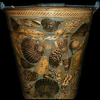 Hand Painted and Decoupaged Original Design Bucket