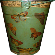 Hand Painted and Decoupage original Design Bucket