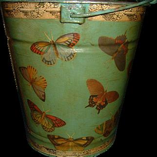 Hand Painted and Decoupage original Design Bucket