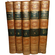 Antique French Leather Books 5 Volumes dated 1822