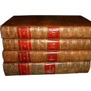 Vintage French Leather Books 4 Volumes 1825