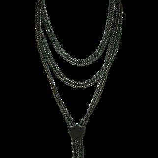 Antique Heavy 800 Silver Slide Chain Circa 1840 Rare