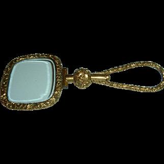 Antique English Gold Filled Quiz Glass Magnify Circa 1870