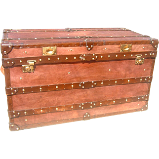 English Handmade Leather Trunk
