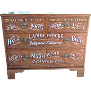 Antique English Display Chest Of Drawers