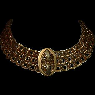 Antique French Gold Filled Choker Fantastic