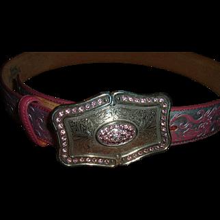 Vintage Designer Belt By Justin Western