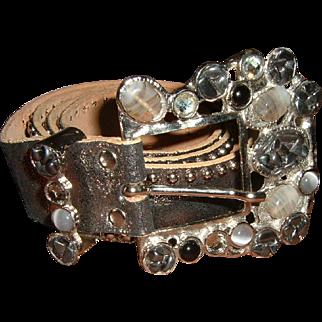 Vintage Designer Leather Belt by Leatherock