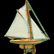 Antique English Pond Yacht