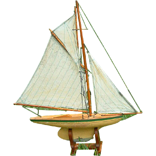 Antique English Pond Yacht