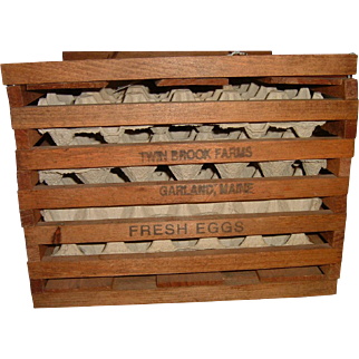 Vintage Maine Farm Egg Crate Kitchenalia