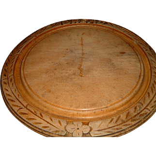 Antique English Wooden Bread Board