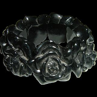 Vintage Black Vulcanite Bracelet