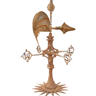Antique English Iron Weathervane Special