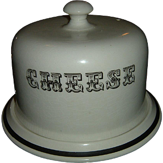 Vintage English Burleigh Cheese Dish Dome & Plate