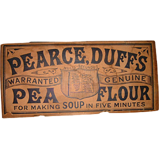 Antique English Pearce Duffs Advertising Soup Sign