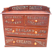 Antique English Advertising Display Dairies Cabinet