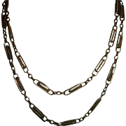 Antique Gold Filled Long Guard Chain Stunning