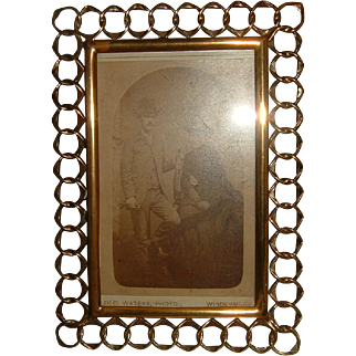 Antique English Brass Ring Frame #1