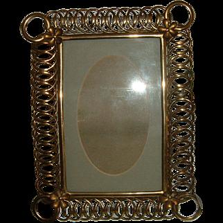 Antique Brass English Ring Photo Frame #3