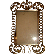 Antique English Brass Ring Frame Fancy