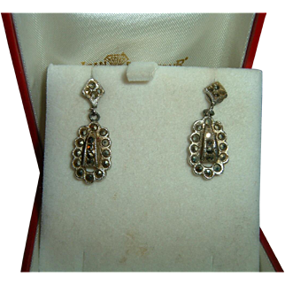 Vintage Cut Steel Victorian Earrings
