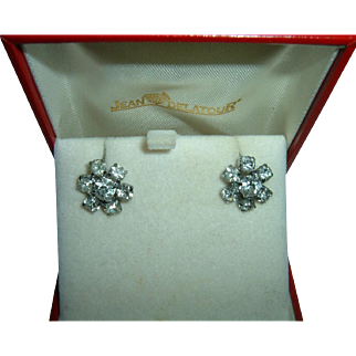 Vintage 900 Silver Paste Earrings