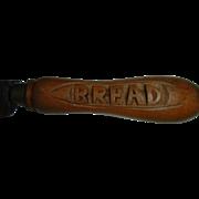 Vintage English Wood Bread Knife