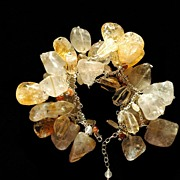 Citrine, Quartz & Sunstone Bracelet