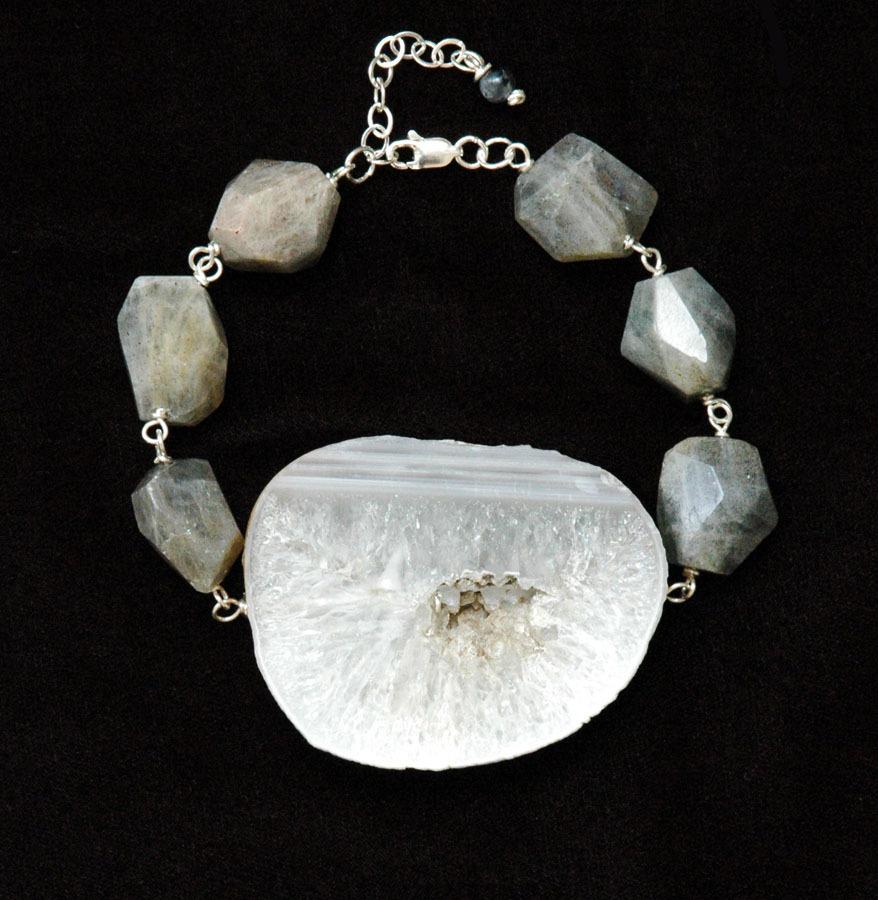Agate & Labradorite Bracelet