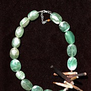 Fluorite & Sea Thorn Necklace