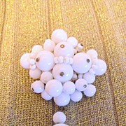 Attractive 1960's Milk Glass Cluster Brooch