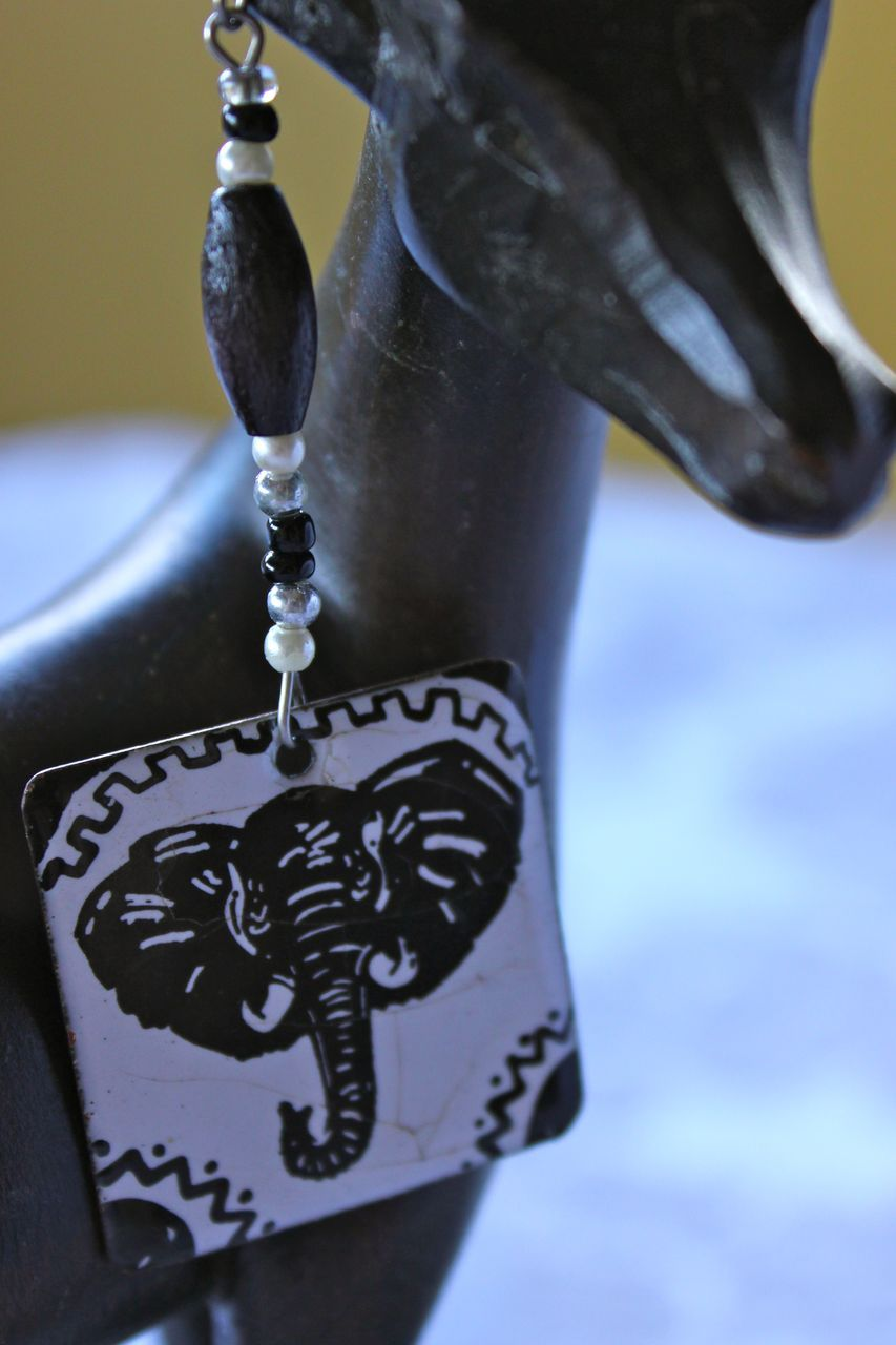 Striking copper and enamel elephant earrings from for Vancouver island jewelry designers