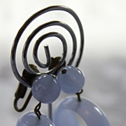 Violet Haze 1960's Lucite Hoop Earrings