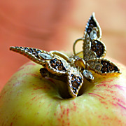 Petite and Pretty Golden Butterfly Brooch