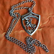 1970's Heraldic Shield Necklace