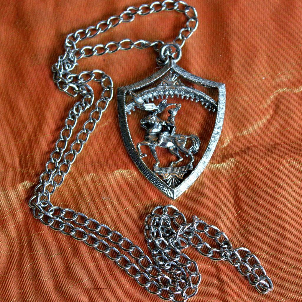 1970's Heraldic Shield Necklace