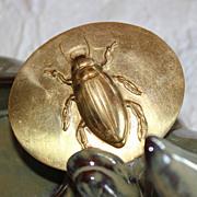 Burnished Edwardian Jewel Beetle Sash Brooch