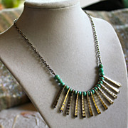 Egyptian Revival Silver-plate Collar Necklace
