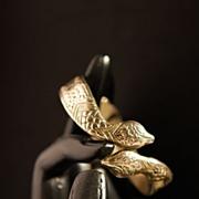 Art Deco Egyptian Revival Pot-Metal Hinged Snake Bangle