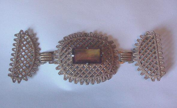 Big and Beautiful Vintage Topaz Rhinestone Belt Buckle