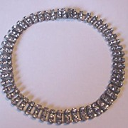Vintage Czech Rhinestone Necklace