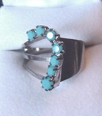 Asymmetrical Faux Turquoise Ring