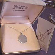 Vintage Van Dell Sterling Silver Necklace in Original Box