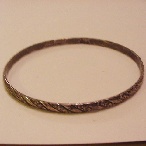 Vintage G. Cini Sterling Silver Bangle Bracelet