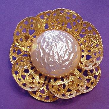 Big Faux Baroque Pearl Pin