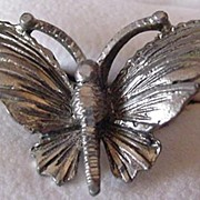 Vintage Wide Wing Butterfly Ring